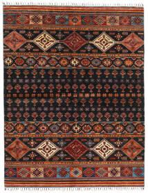 Shabargan Alfombra 175X226 Moderna Hecha A Mano Negro/Rojo Oscuro (Lana, Afganistán)