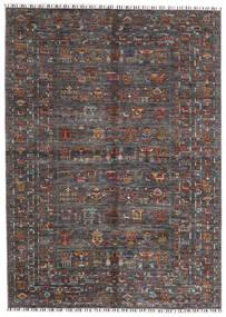 Shabargan Alfombra 174X240 Moderna Hecha A Mano Marrón Oscuro/Gris Oscuro (Lana, Afganistán)