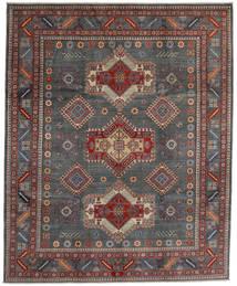 Kazak Alfombra 243X297 Oriental Hecha A Mano Gris Oscuro/Rojo Oscuro (Lana, Afganistán)