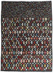 Kilim Moderno Alfombra 171X233 Moderna Tejida A Mano Negro/Rojo Oscuro (Lana, Afganistán)