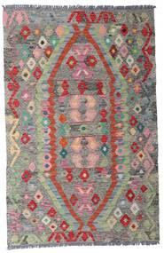 Kilim Afghan Old Style Alfombra 96X149 Oriental Tejida A Mano Gris Claro/Gris Oscuro (Lana, Afganistán)