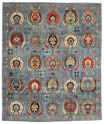Kazak Alfombra 246X294 Oriental Hecha A Mano Rojo Oscuro/Azul (Lana, Afganistán)