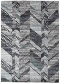 Damask Collection Alfombra 161X230 Moderna Hecha A Mano Gris Oscuro/Gris Claro ( India)