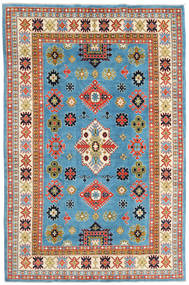 Kazak Alfombra 208X315 Oriental Hecha A Mano Azul Turquesa/Beige (Lana, Afganistán)