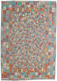 Kilim Afghan Old Style Alfombra 213X300 Oriental Tejida A Mano Gris Oscuro/Gris Claro (Lana, Afganistán)