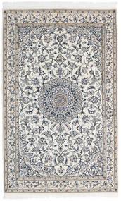 Nain 9La Alfombra 127X202 Oriental Hecha A Mano Gris Claro/Gris Oscuro/Beige (Lana/Seda, Persia/Irán)