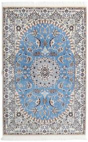 Nain 9La Alfombra 135X206 Oriental Hecha A Mano Gris Claro/Azul Claro (Lana/Seda, Persia/Irán)