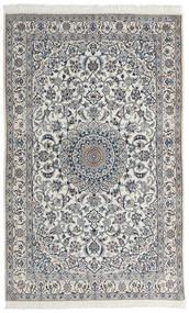 Nain 9La Alfombra 123X200 Oriental Hecha A Mano Gris Claro/Gris Oscuro (Lana/Seda, Persia/Irán)