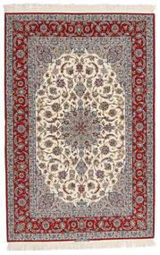 Isfahan Urdimbre De Seda Firmada Entashari Alfombra 161X241 Oriental Hecha A Mano Beige/Gris Claro/Marrón Oscuro (Lana/Seda, Persia/Irán)