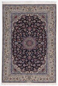 Isfahan Urdimbre De Seda Alfombra 160X235 Oriental Hecha A Mano Gris Claro/Púrpura Oscuro (Lana/Seda, Persia/Irán)