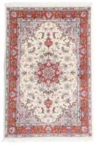 Tabriz 60 Raj Urdimbre De Seda Alfombra 101X153 Oriental Hecha A Mano Beige/Gris Claro (Lana/Seda, Persia/Irán)