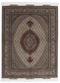 Tabriz 60 Raj Urdimbre De Seda Alfombra 156X198 Oriental Hecha A Mano Marrón Oscuro/Gris Oscuro (Lana/Seda, Persia/Irán)