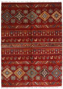 Shabargan Alfombra 172X237 Moderna Hecha A Mano Roja/Rojo Oscuro/Óxido/Roja (Lana, Afganistán)