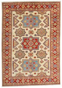 Kazak Alfombra 201X288 Oriental Hecha A Mano Marrón Claro/Óxido/Roja (Lana, Afganistán)