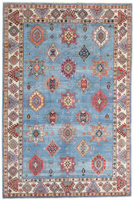 Kazak Alfombra 198X298 Oriental Hecha A Mano Azul Claro/Beige (Lana, Afganistán)