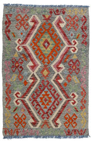 Kilim Afghan Old Style Alfombra 80X118 Oriental Tejida A Mano Gris Oscuro/Rojo Oscuro/Gris Claro (Lana, Afganistán)
