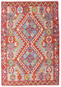 Kilim Afghan Old Style Alfombra 81X117 Oriental Tejida A Mano Beige/Óxido/Roja (Lana, Afganistán)
