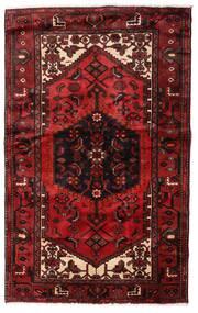 Hamadan Alfombra 135X214 Oriental Hecha A Mano Rojo Oscuro (Lana, Persia/Irán)