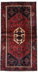 Hamadan Alfombra 100X193 Oriental Hecha A Mano Rojo Oscuro (Lana, Persia/Irán)