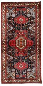 Hamadan Alfombra 101X205 Oriental Hecha A Mano Rojo Oscuro/Negro (Lana, Persia/Irán)