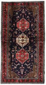 Hamadan Alfombra 104X196 Oriental Hecha A Mano Rojo Oscuro/Marrón (Lana, Persia/Irán)