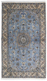 Nain 9La Alfombra 127X215 Oriental Hecha A Mano Gris Oscuro/Gris Claro (Lana/Seda, Persia/Irán)