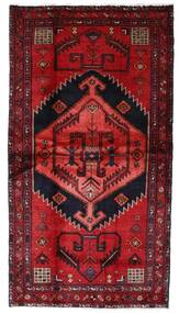 Hamadan Alfombra 108X202 Oriental Hecha A Mano Rojo Oscuro (Lana, Persia/Irán)