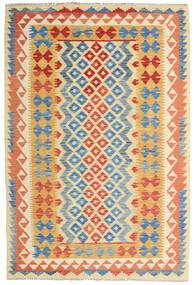 Kilim Afghan Old Style Alfombra 126X186 Oriental Tejida A Mano Beige Oscuro/Roja (Lana, Afganistán)