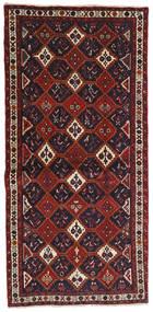 Afshar Alfombra 93X191 Oriental Hecha A Mano Rojo Oscuro/Azul Oscuro (Lana, Persia/Irán)