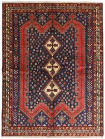 Afshar Alfombra 158X210 Oriental Hecha A Mano Rojo Oscuro/Negro (Lana, Persia/Irán)