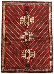 Afshar Alfombra 161X222 Oriental Hecha A Mano Rojo Oscuro/Negro (Lana, Persia/Irán)