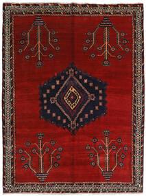 Afshar Alfombra 157X209 Oriental Hecha A Mano Rojo Oscuro/Roja (Lana, Persia/Irán)