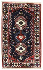 Yalameh Alfombra 63X101 Oriental Hecha A Mano Negro/Marrón Oscuro (Lana, Persia/Irán)
