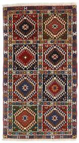 Yalameh Alfombra 60X105 Oriental Hecha A Mano Rojo Oscuro/Negro (Lana, Persia/Irán)