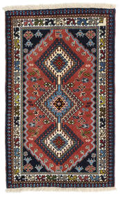 Yalameh Alfombra 60X99 Oriental Hecha A Mano Gris Oscuro/Rojo Oscuro (Lana, Persia/Irán)