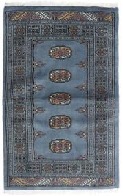 Pakistan Bukara 3Ply Alfombra 82X130 Oriental Hecha A Mano Azul/Gris Oscuro (Lana, Pakistán)