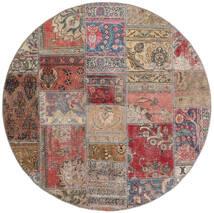 Patchwork - Persien/Iran Alfombra Ø 150 Moderna Hecha A Mano Redonda Marrón/Gris Claro (Lana, Persia/Irán)
