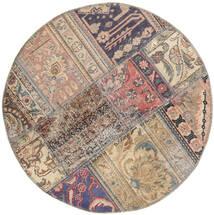 Patchwork - Persien/Iran Alfombra Ø 100 Moderna Hecha A Mano Redonda Gris Claro/Gris Oscuro (Lana, Persia/Irán)