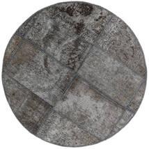 Patchwork - Persien/Iran Alfombra Ø 100 Moderna Hecha A Mano Redonda Gris Oscuro/Gris Claro (Lana, Persia/Irán)