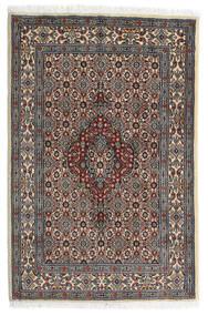 Moud Alfombra 82X123 Oriental Hecha A Mano Marrón Oscuro/Gris Oscuro (Lana/Seda, Persia/Irán)