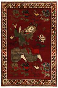 Gashgai Alfombra 124X184 Oriental Hecha A Mano Roja/Marrón Oscuro (Lana, Persia/Irán)
