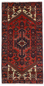 Hamadan Alfombra 73X142 Oriental Hecha A Mano Rojo Oscuro (Lana, Persia/Irán)
