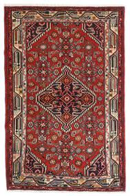 Asadabad Alfombra 84X127 Oriental Hecha A Mano Rojo Oscuro/Marrón Oscuro (Lana, Persia/Irán)