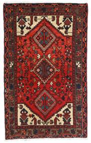 Hamadan Alfombra 72X117 Oriental Hecha A Mano Rojo Oscuro/Negro (Lana, Persia/Irán)
