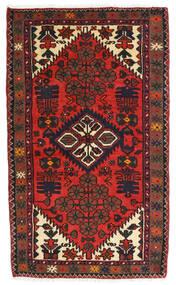 Hamadan Alfombra 76X127 Oriental Hecha A Mano Rojo Oscuro/Marrón Oscuro (Lana, Persia/Irán)