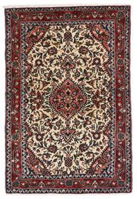 Hamadan Alfombra 83X122 Oriental Hecha A Mano Negro/Marrón Oscuro (Lana, Persia/Irán)