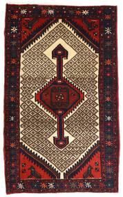 Hamadan Alfombra 82X132 Oriental Hecha A Mano Marrón Oscuro/Rojo Oscuro (Lana, Persia/Irán)