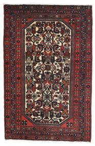 Rudbar Alfombra 81X125 Oriental Hecha A Mano Negro/Rojo Oscuro (Lana, Persia/Irán)