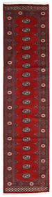 Pakistan Bukara 2Ply Alfombra 80X328 Oriental Hecha A Mano Rojo Oscuro/Roja (Lana, Pakistán)