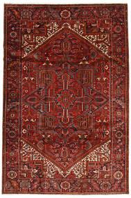 Heriz Alfombra 228X344 Oriental Hecha A Mano Rojo Oscuro/Marrón Oscuro (Lana, Persia/Irán)